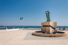 Staty av Sao Goncalo, Avenida DOS-descobrimentos, Lagos, Portug royaltyfria bilder