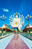 Staty av Shiva på den KohSamui ön, Thailand Arkivbilder