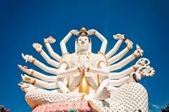 Staty av Shiva på den KohSamui ön, Thailand Arkivfoto