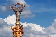 Staty av självständighet Arkivfoto