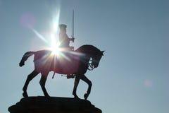 Staty av skickliga ryttaren i Chantilly Arkivfoton