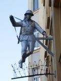 Staty av soldaten Conrad Schumann fotografering för bildbyråer