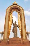 Staty av Somoni dushanbe tajikistan Arkivfoton