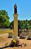 Staty av St Anthony i Kruszewo Polen Royaltyfri Fotografi