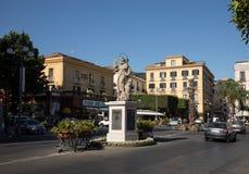 Staty av St Antoninus av Sorrento Campania Italien arkivbilder