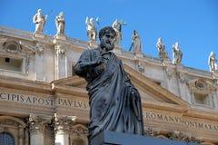 Staty av St Peter i Vaticanen Royaltyfri Foto
