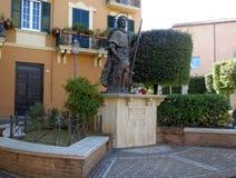 Staty av St Rocco i Fondi, Italien Arkivfoto
