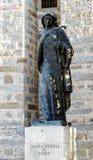 Staty av St Teresa i Avila Spanien Royaltyfri Bild