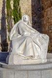 Staty av St Teresa i Avila Spanien Arkivfoto