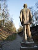 Staty av stenmannen på lägret amersfoort i Nederländerna Arkivbilder