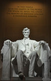 Staty av USA-presidenten Abraham Lincoln inom Lincoln Memorial Arkivfoton