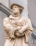 Staty av världsförbättraren Martin Luther Arkivbilder