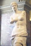 Staty av Venus de Milo (aphroditen), Grekland, ca 150-125 F. KR. på Louvremuseet, Paris, Frankrike Royaltyfri Fotografi