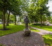 Staty av Vincent van Gogh i Nuenen royaltyfria foton