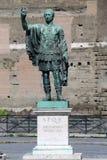 Staty CAESARI NERVAE Augustus, Rome, Italien Arkivfoto