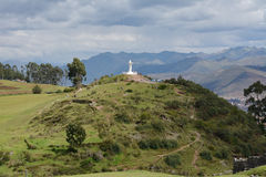 Staty Christo, Blanco, vit, Jesus Christ, Cusco, Peru, Anderna, Arkivfoton