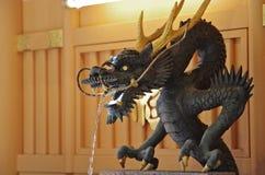 Staty Dragon Japan Arkivbilder