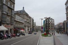 Staty El Sireno, Vigo centrum arkivfoton