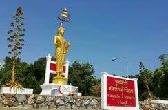 Staty en munk på Thailand Royaltyfria Foton