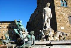 staty för 2 florence neptune Arkivfoto