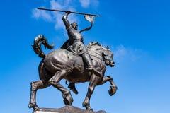Staty för brons för `-El Cid Campeador ` i San Diego Arkivfoton