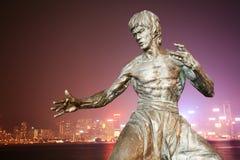 staty för bruce lee s Arkivbilder