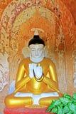 Staty för Buddha för Bagan Archaeological Zone ` s, Myanmar Fotografering för Bildbyråer