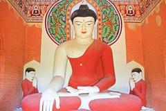 Staty för Buddha för Bagan Archaeological Zone ` s, Myanmar Arkivbild