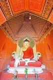 Staty för Buddha för Bagan Archaeological Zone ` s, Myanmar Arkivfoto