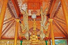 Staty för Buddha för Shwedagon pagod` s, Yangon, Myanmar Royaltyfria Bilder