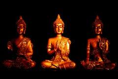 Staty för Buddha tre av Thailand Royaltyfri Foto
