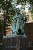 Staty för filosof- och författareSøren Kierkegaard ` s i Köpenhamnen, Danmark Arkivbilder