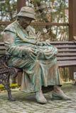 Staty för gammal kvinna Fotografering för Bildbyråer
