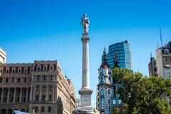 Staty för general Lavalle i Buenos Aires, Argentina Arkivbild