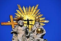 Staty för helig Treenighet i Sopron Arkivbilder