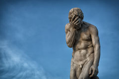 Staty för Henri Vidal ` s av Cain Arkivbild