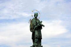 staty för john nepomukst Fotografering för Bildbyråer
