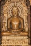 Staty för Khajuraho tempelbuda, Indien Arkivfoto