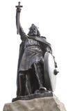 Staty för konung Alfred The Greats Royaltyfria Bilder