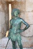 Staty för konung David, Jerusalem, Israel Arkivfoton