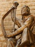 Staty för konung David, Jerusalem, Israel Royaltyfri Foto