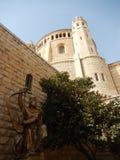STATY FÖR KONUNG DAVID OCH KYRKAN AV DORMITIONEN, JERUSALEM Arkivbilder