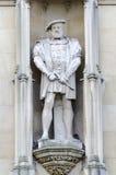 Staty för konung Herny VIII Arkivbild