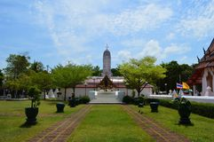 Staty för konung Rama II, Thailand Royaltyfri Fotografi