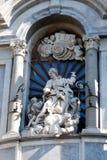 Staty för St. Agatas på fasaden av domkyrkan av Catania Arkivbilder
