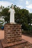 Staty för St Francis Xavier i Malacca, Malaysia Royaltyfri Foto