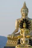 Staty för tre buddha Arkivfoto