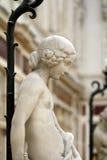 Staty från passagen Pommeraye Royaltyfria Bilder