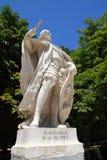 Staty för D Sancho 4 i Madrid på den Retiro parken Arkivbilder