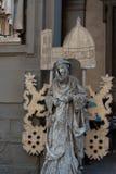 Staty framme av det Uffizi gallerit, primär konstmusem av Florence italy tuscany Royaltyfri Bild